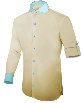 Br�utigamhemden with Cut Away 1 Button
