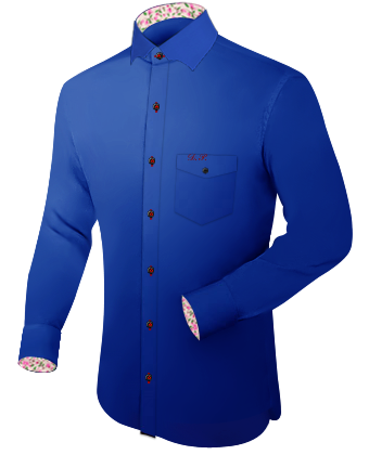 Brusttasche Manschetten Hemden with Batman Collar