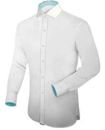 Ausgestattet Hemd with Italian Collar 1 Button