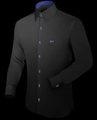 Button Down Hemden Gr���e 40 Slim Line with French Collar 2 Button