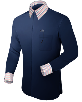 Chice Oberhemden with French Collar 2 Button
