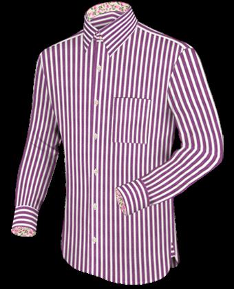 Chinesiche Hemden with French Collar 2 Button