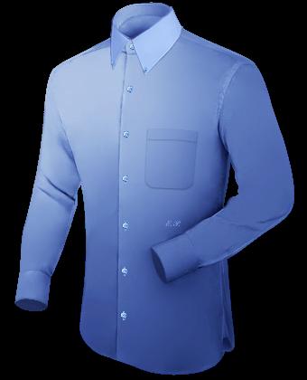 Extrem Hoher Kragen Hemd with Button Down