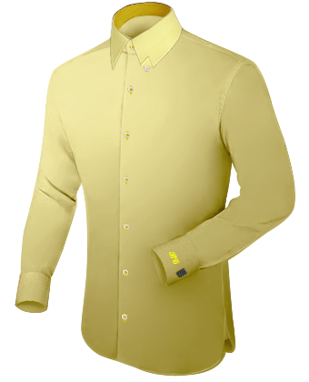 Baumwolle Hemd with Hidden Button