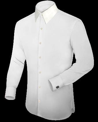 Frackkragen Hemd with French Collar 1 Button