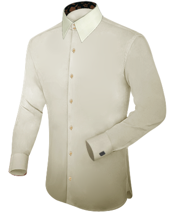 Oberhemden Mit Extra Langem Arm with French Collar 2 Button