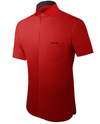Hemd Beflocken with Italian Collar 1 Button