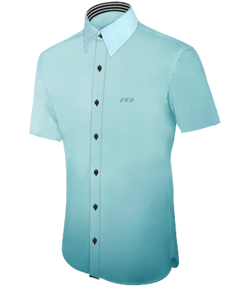 Hemd Dunkelblau with French Collar 1 Button