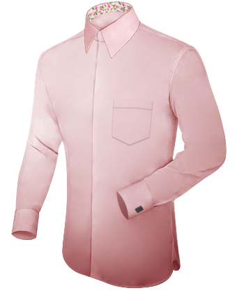 Hemd Grau with French Collar 1 Button