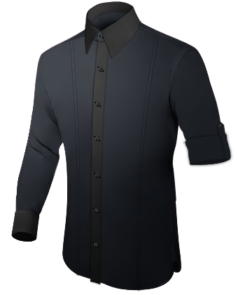 Hemd Ma�� with French Collar 1 Button