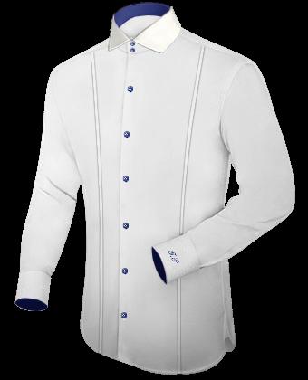 Hemd Mit Monogram with Italian Collar 1 Button