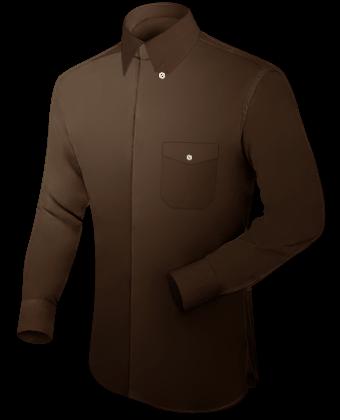 Hemd Umschlagmanschette with Hidden Button
