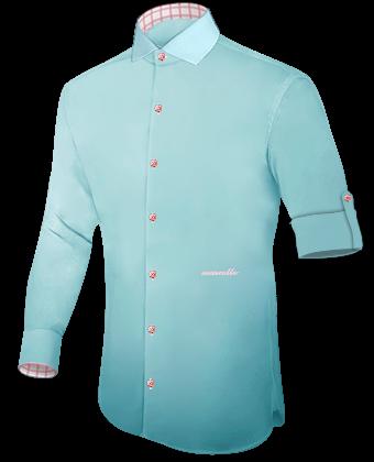 Hemd Weiss with Italian Collar 1 Button