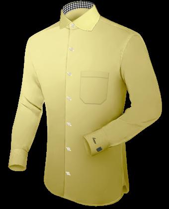 Hemd Wei�� Umschlagmanschette G�nstig with English Collar