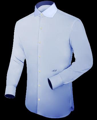 Hemd, Vaterm�rder, Manschetten with English Collar