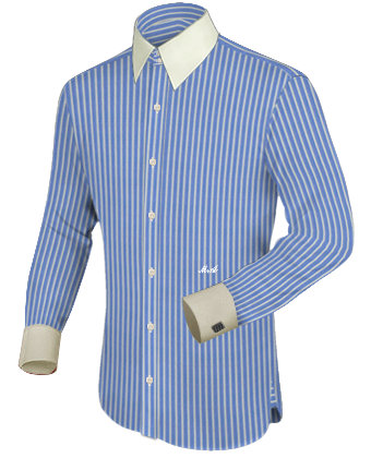 Hemde Slim Lang with French Collar 2 Button
