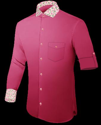 Hemden Bestickt with Italian Collar 2 Button
