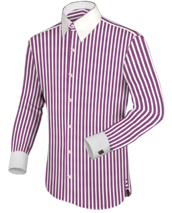 Hemden Schwarz with Modern Collar