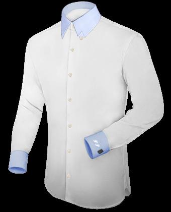 Hemden Hohe Kragen with Hidden Button