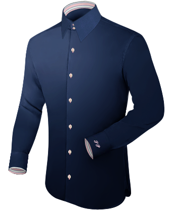 Slim Kleidung with French Collar 2 Button