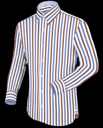 Hemden Manufaktur Lauterbach with French Collar 2 Button