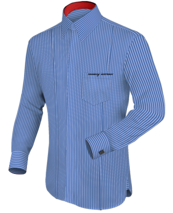 Bekleidung Hemd with French Collar 2 Button