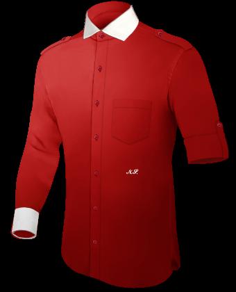 Hemden Kariert with Italian Collar 1 Button