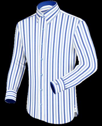 Hemden Mit Ausdruck with French Collar 1 Button