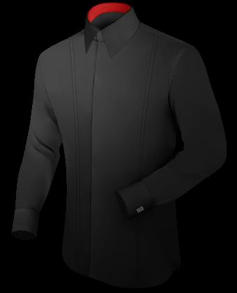 B�gelfreie Herrenhemden with French Collar 1 Button