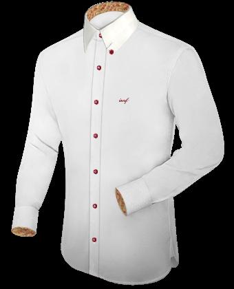 Hemden Mit Verk�rztem Arm with Hidden Button