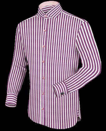 Hemden Nach Ma�� Mei��en with Italian Collar 1 Button