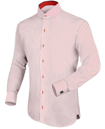 Hemden Nach Ma�� Waldenbuch with Italian Collar 1 Button