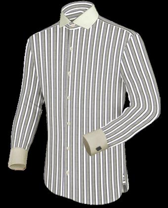 Hemden Nur F�r Manschettenkn�pfe with Italian Collar 1 Button