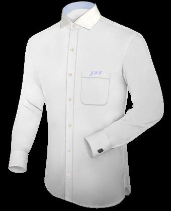 Hemden Popeline with Italian Collar 1 Button