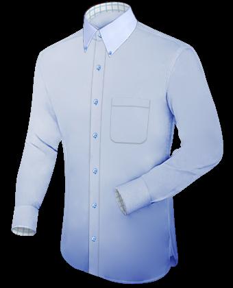 Hemden Slim Line Umschlagmanschette with Button Down