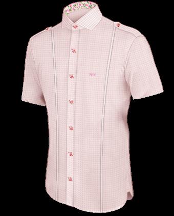 Hemden übergr���e Rot with Italian Collar 1 Button
