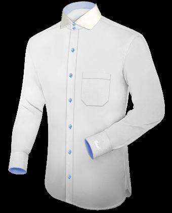 Hemden Weiss Button Down Kragen with Italian Collar 2 Button