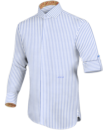 Hemdendiscount with Italian Collar 1 Button