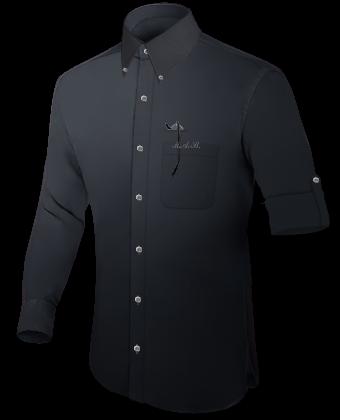 Hemdkragen Aufschrift with Button Down