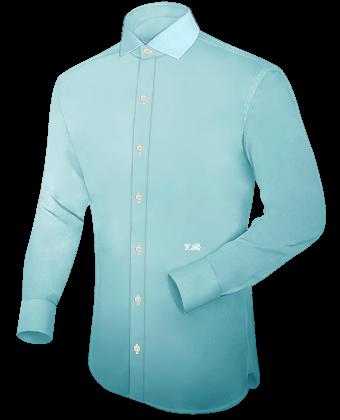 Herren Hemd Body with Italian Collar 1 Button