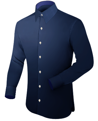 Herren Hemd Extra Langer Arm with French Collar 1 Button
