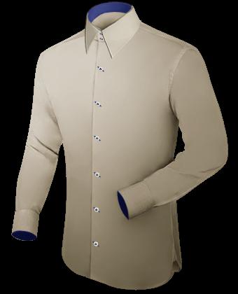 G�nstige Herrenhemden with French Collar 2 Button