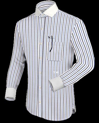 Herren Hemdennach Mass with Italian Collar 1 Button