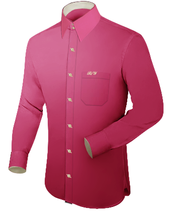 Herren Oberhemd Ma�� with French Collar 2 Button