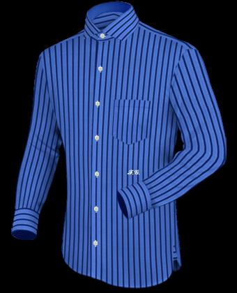 Herrenhemd Button Down Gr 43 with Italian Collar 1 Button