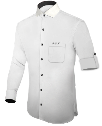 Herrenhemd Burgundy with Italian Collar 1 Button