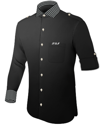 Herrenhemd Arml�nge with Italian Collar 1 Button