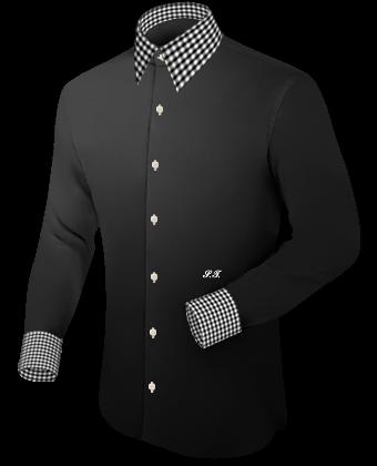 Herrenhemd Gr 51 Wei�� with French Collar 1 Button