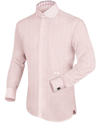 Herrenhemd In Farbe Purple with English Collar
