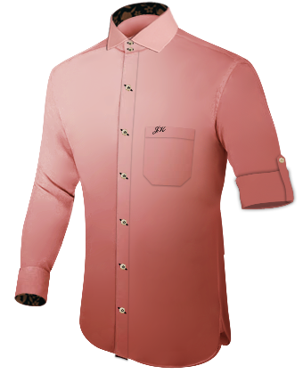 Herrenhemd Hellblau with Italian Collar 2 Button